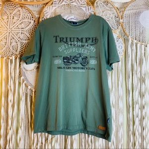 Truimph Military Motorcycles Graphic Short Sleeve